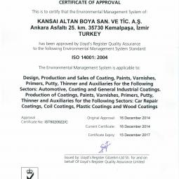 Akzo Nobel ISO 14001