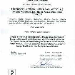 Akzo Nobel ISO 9001