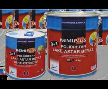 BA38B413 KEMIPLUS POLİÜRETAN LAKE ASTAR BEYAZ (3+1)